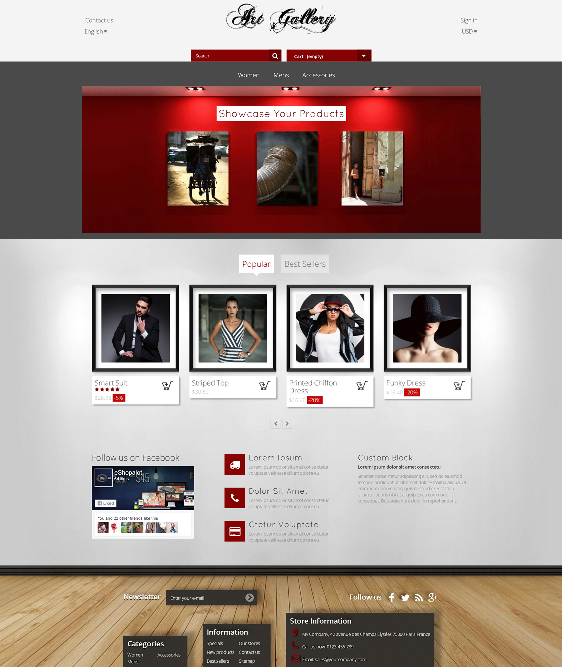 Photography Prestashop Gallery Theme - Art gallery Template