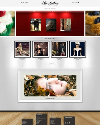 Artgallery photography art Prestashop template 1.7