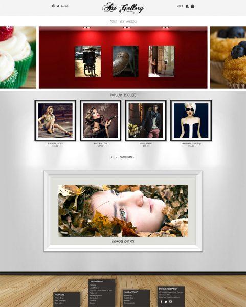 Artgallery photography art Prestashop template 1.7