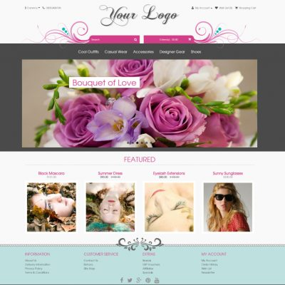 Aura floral wedding bridal template 2.0
