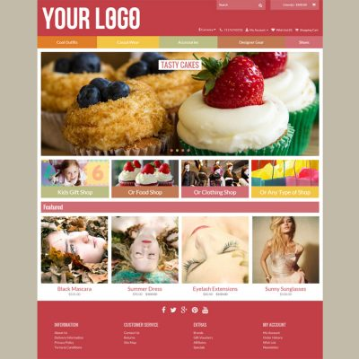 Uptown Multicolor Opencart Template