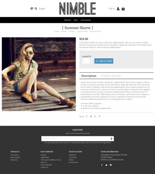 Prestashop Grid theme