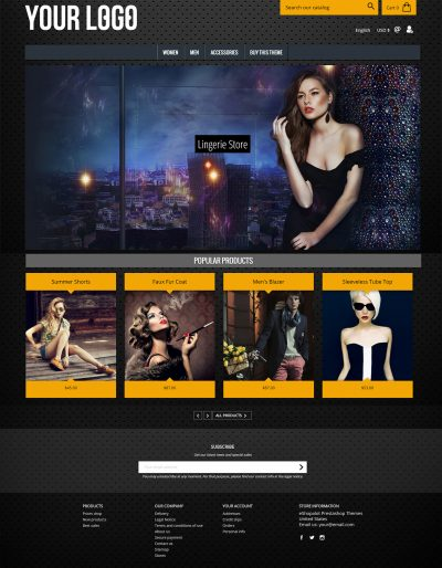 InvertedHardware Dark Prestashop Template 1.7 Theme