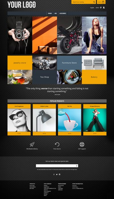 Hardware Dark Modern Prestashop 1.7 Theme Template
