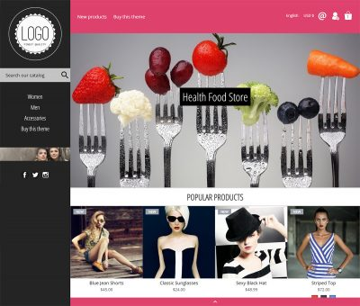 Newfangled modern prestashop theme