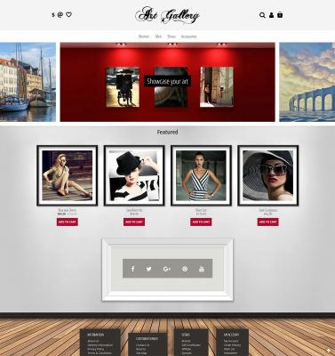 Endless Scroll Masonry Opencart 3 Template for Photography & Art