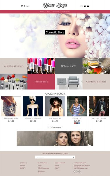 Prestashop Grid Layout Theme