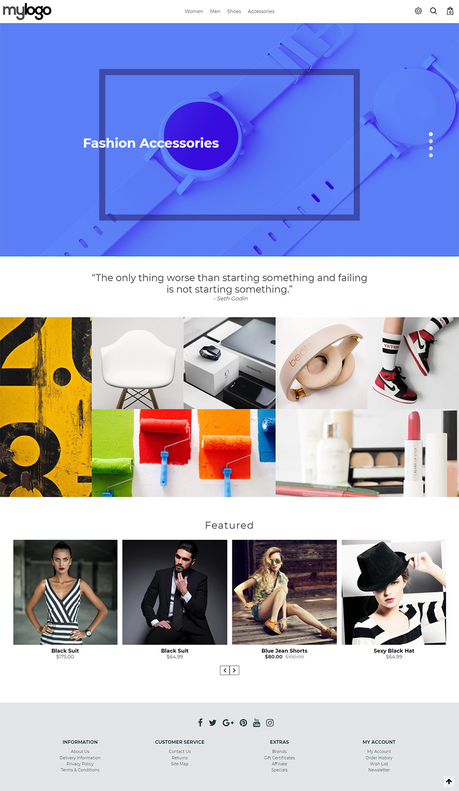 Opencart masonry theme full screen fullscreen template